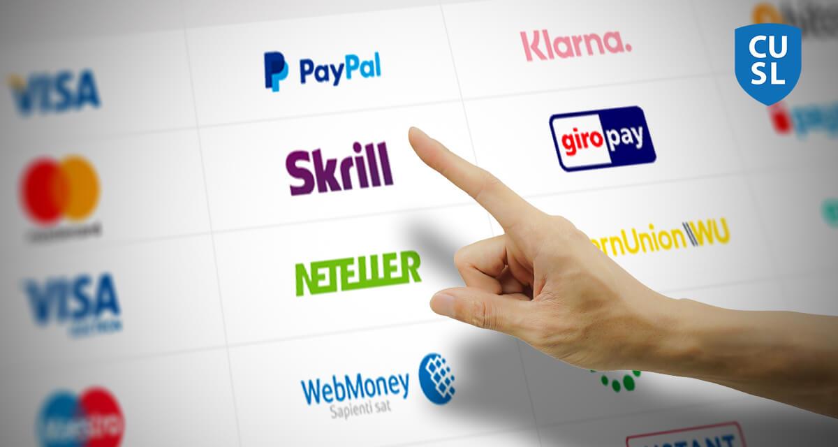 Populära betalningsmetoder