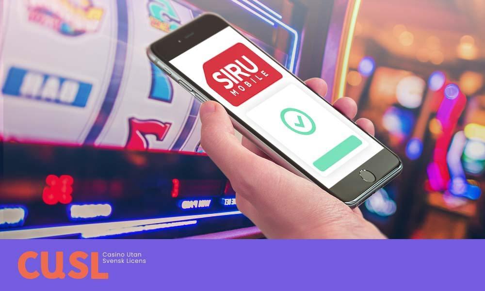 Siru Mobile på casino utan svensk licens